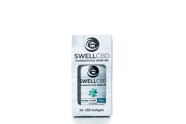 Swell CBD Natural Flavor - Softgels Capsules 30ct - 750MG