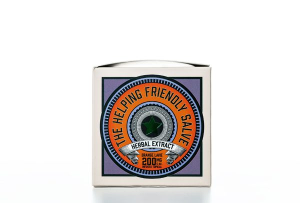 The Helping Friendly Salve Infused Topical - Orange Lavie - 200MG 4oz