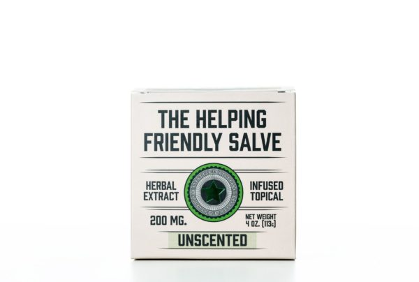 The Helping Friendly Salve Infused Topical - Unscented - 200MG 4oz