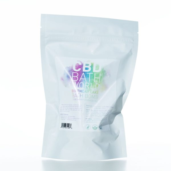 CBD Bath World Bath Bomb - Birthday Cake - 50MG