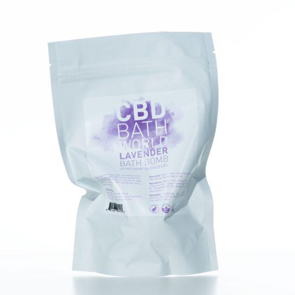 CBD Bath World Bath Bomb - Lavender - 50MG