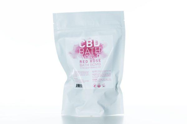 CBD Bath World Bath Bomb - Red Rose - 50MG