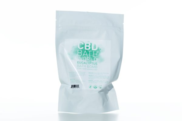 CBD Bath World Bath Bomb - Eucalyptus - 50MG