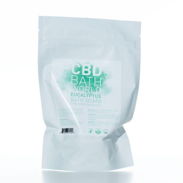 CBD Bath World Bath Bomb - Eucalyptus - 50MG