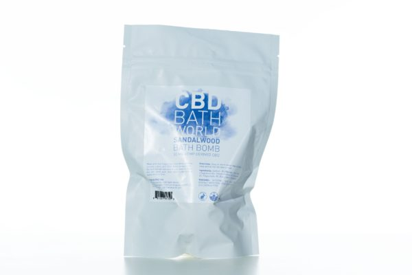 CBD Bath World Bath Bomb - Sandalwood - 50MG