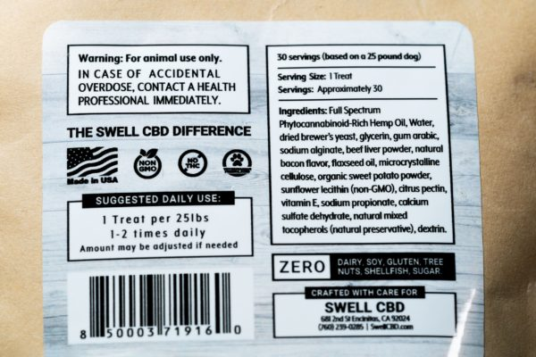 Swell CBD Dog Treats - 2MG (30ct)