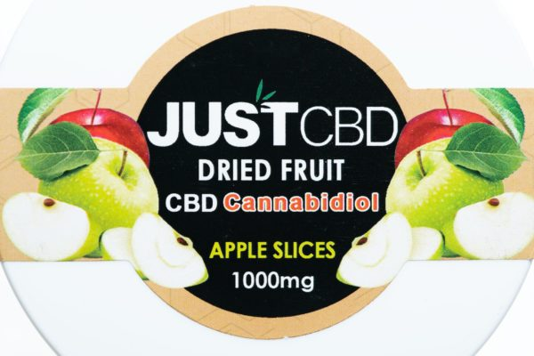 Just CBD Dried Fruit - Apple Slices - 1000MG