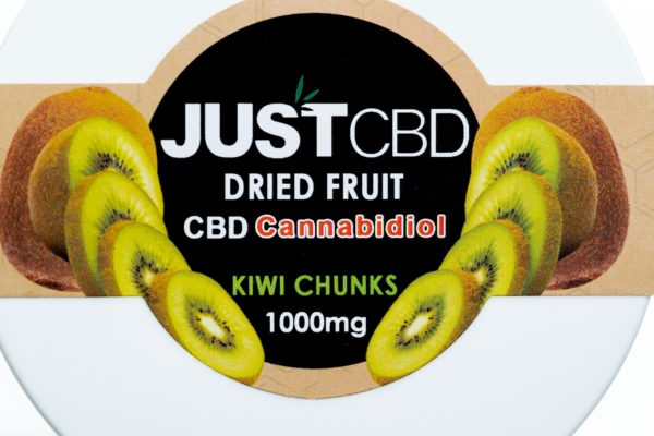 Just CBD Dried Fruit - Kiwi Chunks - 1000MG