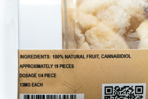 Just CBD Dried Fruit - Apple Slices - 1000MG