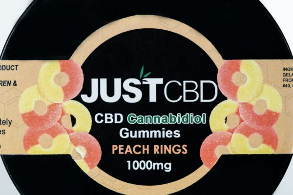 Just CBD Gummies - Peach Rings - 1000MG