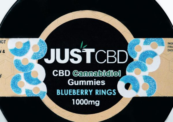 Just CBD Gummies - Blueberry Rings - 1000MG