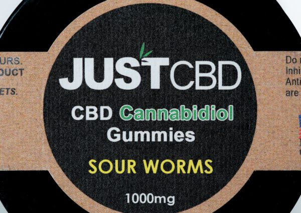 Just CBD Gummies - Sour Worms - 1000MG