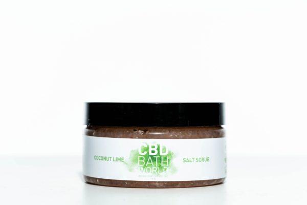 CBD Bath World Salt Scrub - Coconut Lime - 200MG 16oz