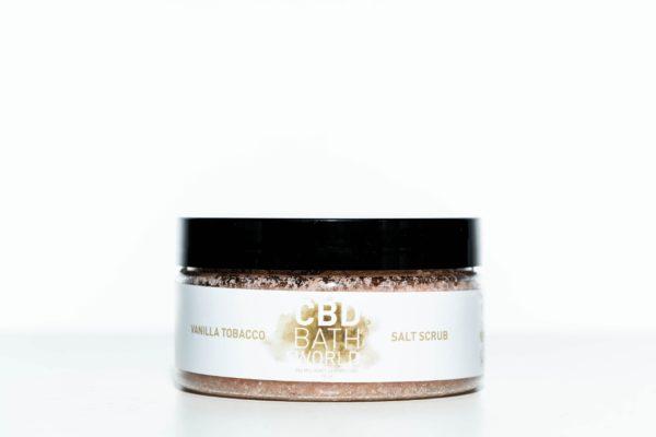 CBD Bath World Salt Scrub - Vanilla Tobacco - 200MG 16oz