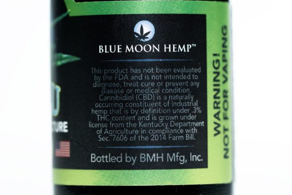 Blue Moon Hemp - Tru Blu Natural - Premium Tincture - 500mg