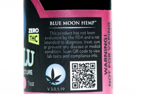 Blue Moon Hemp - Tru Blu Berry - Premium Tincture - 250mg