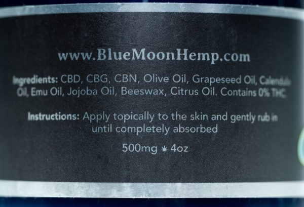 Blue Moon Limonene - 500MG - CBD Salve (4oz)