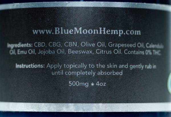 Blue Moon Eucalyptus - 500MG - CBD Salve 4oz