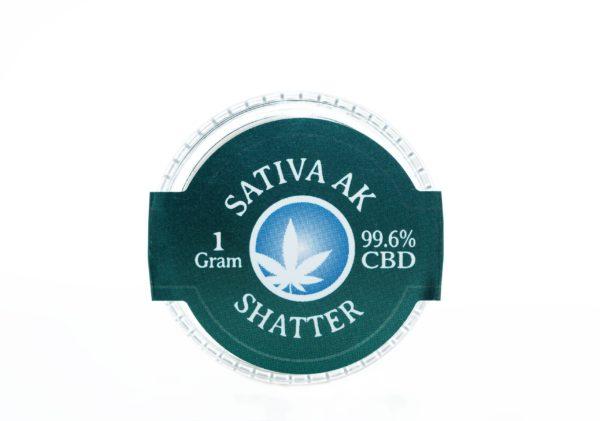 Blue Moon Sativa AK - CBD Shatter - 1G