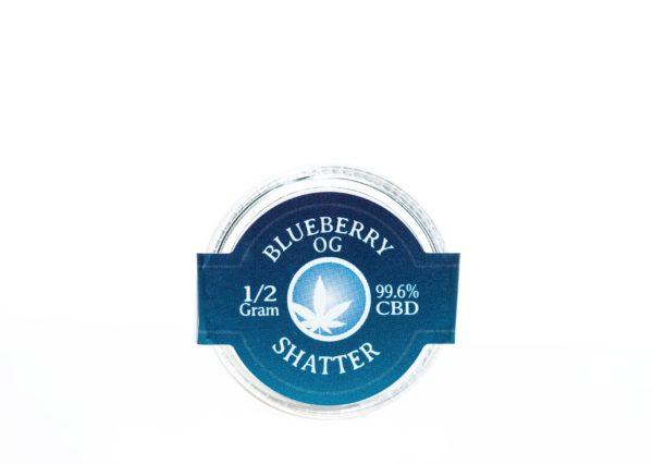 Blue Moon Blueberry OG - CBD Shatter - 1/2G
