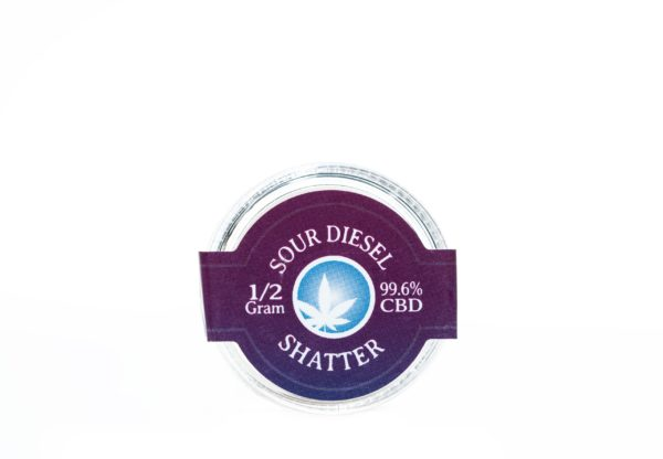 Blue Moon Sour Diesel - CBD Shatter - 1/2G