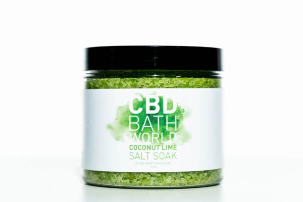 CBD Bath World Salt Soaks - Coconut Lime - 200MG 16oz