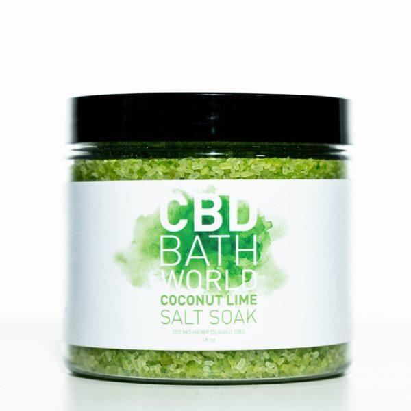 CBD Bath World Salt Soaks - Coconut Lime - 200MG 16oz