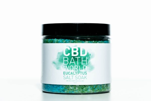 CBD Bath World Salt Soaks - Eucalyptus - 200MG 16oz