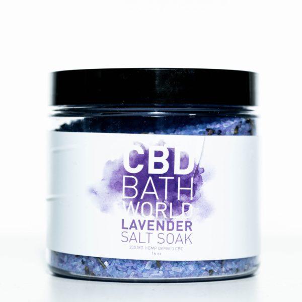 CBD Bath World Salt Soaks - Lavender - 200MG 16oz