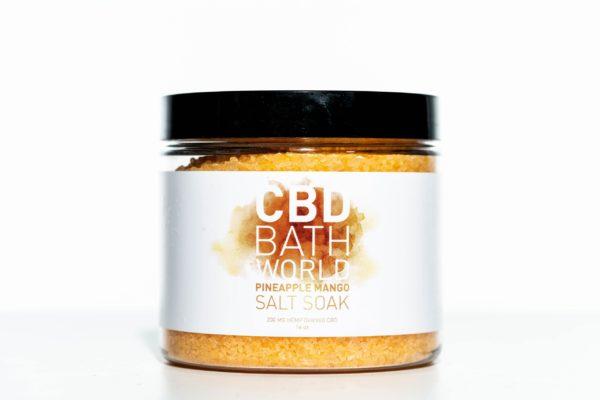CBD Bath World Salt Soaks - Pineapple Mango - 200MG 16oz