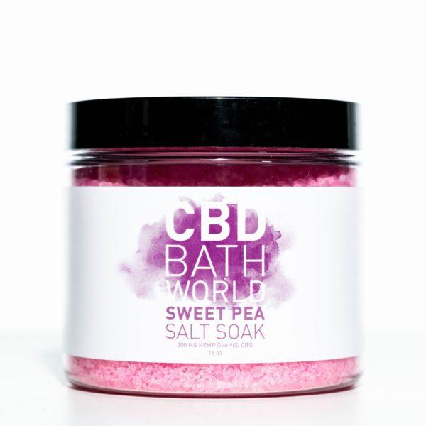CBD Bath World Salt Soaks - Sweet Pea - 200MG 16oz