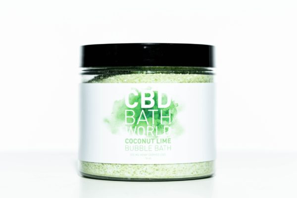CBD Bath World Bubble Bath - Coconut Lime - 200MG 16oz