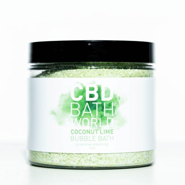 CBD Bath World Bubble Bath - Coconut Lime - 200MG 16oz
