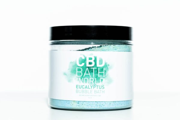 CBD Bath World Bubble Bath - Eucalyptus - 200MG 16oz
