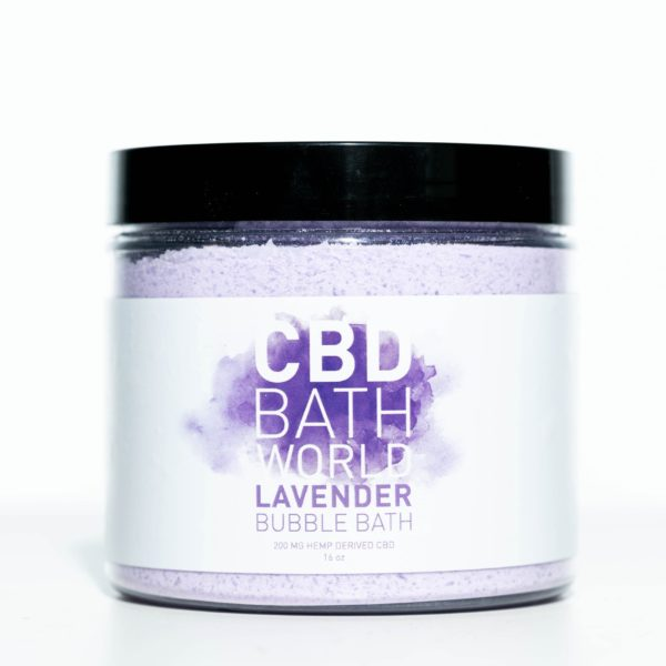 CBD Bath World Bubble Bath - Lavender - 200MG 16oz