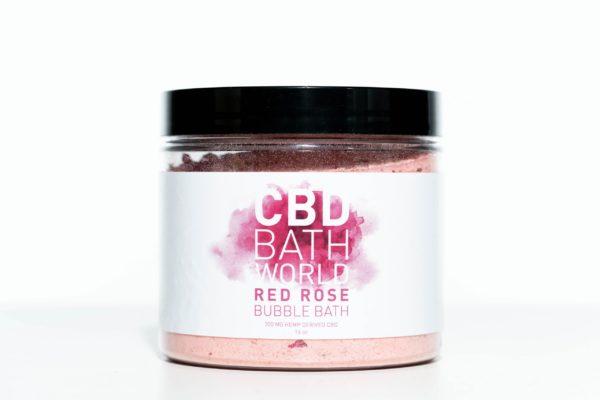 CBD Bath World Bubble Bath - Red Rose - 200MG 16oz