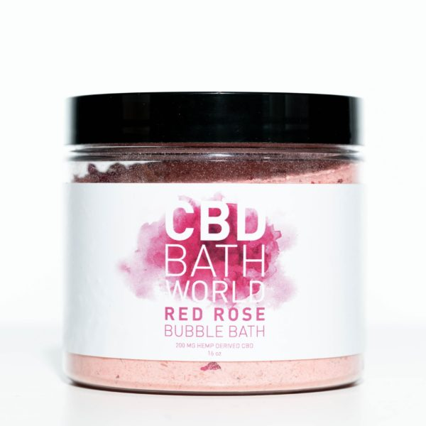 CBD Bath World Bubble Bath - Red Rose - 200MG 16oz