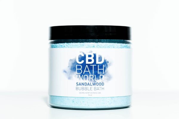 CBD Bath World Bubble Bath - Sandalwood - 200MG 16oz