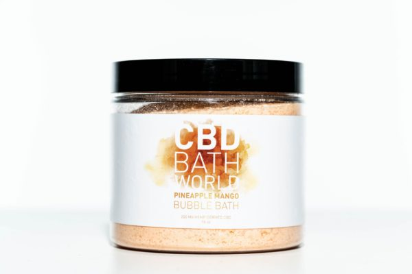 CBD Bath World Bubble Bath - Pineapple Mango - 200MG 16oz