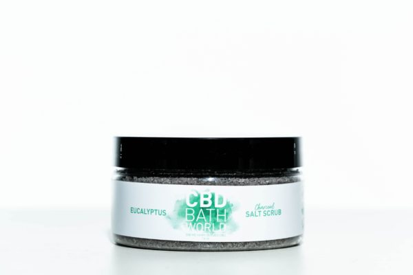 CBD Bath World Salt Scrub - Eucalyptus - 200MG 16oz