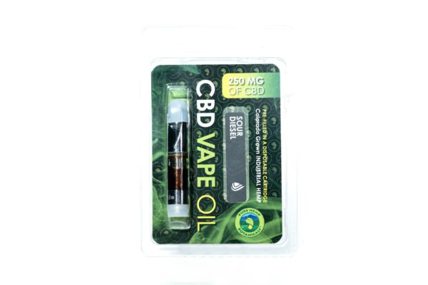 Pure Hemp Botanicals CBD Vape Oil - Sour Diesel - 250MG 0.5G Cartridge