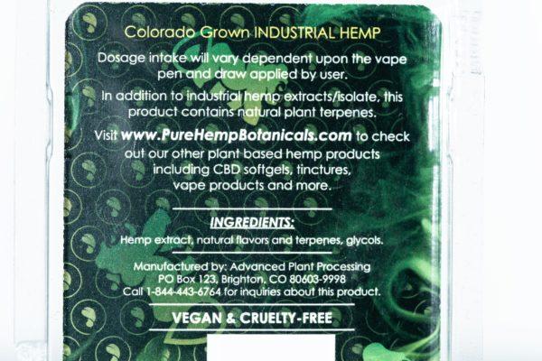 Pure Hemp Botanicals CBD Vape Oil - GG4 - 250MG 0.5G Cartridge