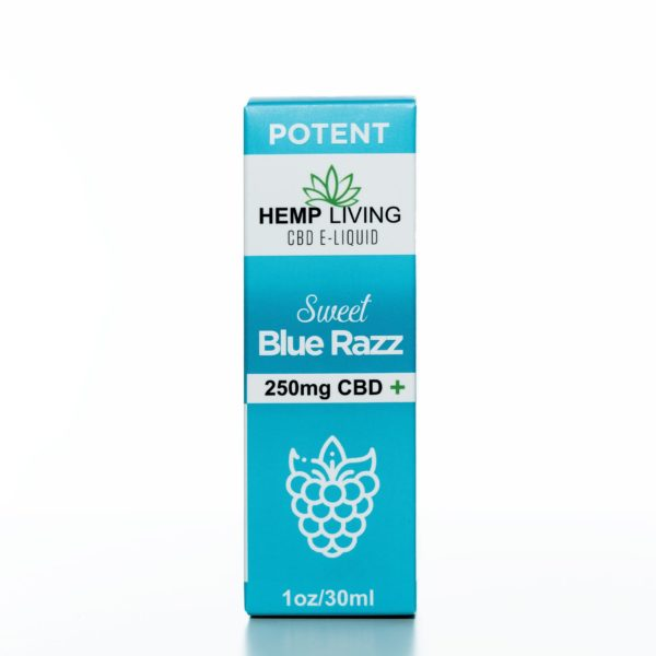 Hemp Living CBD Sweet Blue Raz - 250MG - 30ML