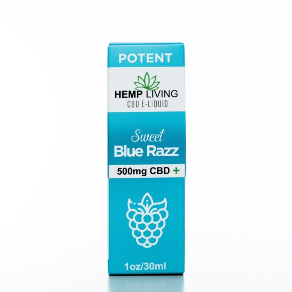 Hemp Living CBD Sweet Blue Raz - 500MG - 30ML