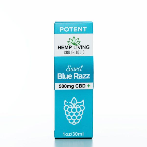 Hemp Living CBD Sweet Blue Raz - 500MG - 30ML