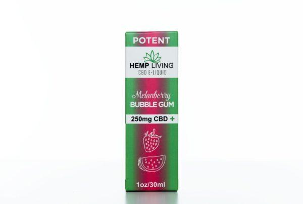 Hemp Living CBD Melonberry Bubble Gum - 250MG - 30ML