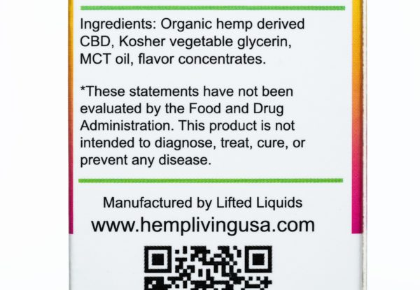 Hemp Living CBD Maui Nectar - 250MG - 30ML