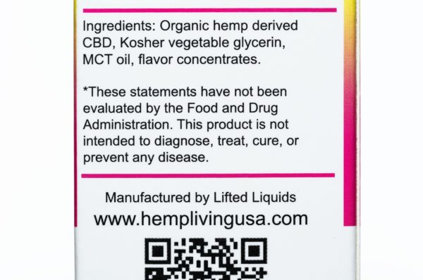 Hemp Living CBD Pink Punch - 250MG - 30ML