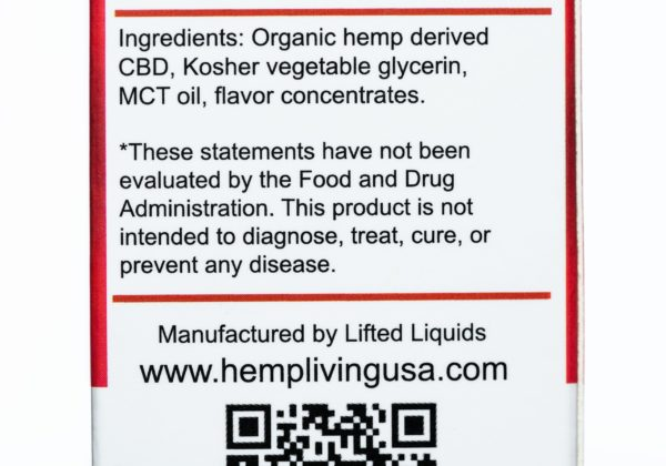 Hemp Living CBD Lava Flow - 1000MG - 30ML