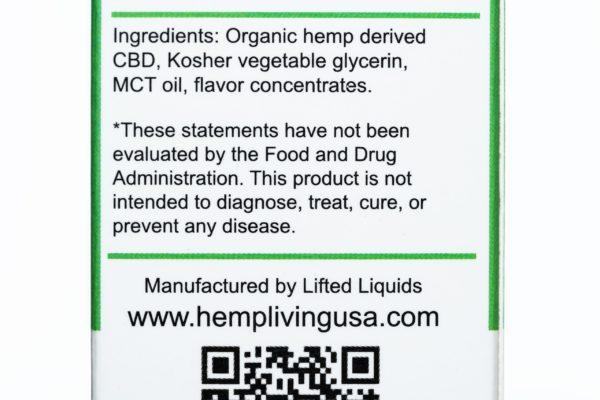 Hemp Living CBD Melonberry Bubble Gum - 1000MG - 30ML